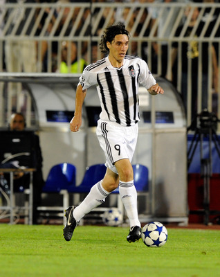 BELGRADE, SERBIA - AUGUST 18:  Cleo of FK Partizan during the Champions League Play-off match between Partizan and Anderlecht at Partizan Stadium on August 18, 2010 in Belgrade, Serbia.  (Photo by Claudio Villa/Getty Images)