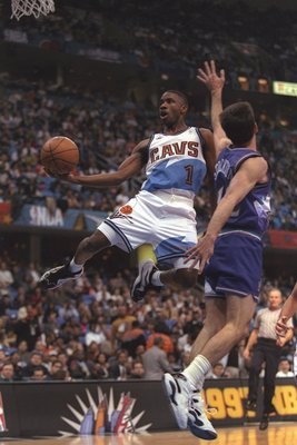9 Feb 1997:  Guard Terrell Brandon of the Cleveland Cavaliers goes up for two during the NBA All-Star game. Mandatory Credit: Brian Bahr  /Allsport