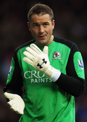BLACKBURN, ENGLAND - DECEMBER 26:  Blackburn Rovers goalkeeper Paul Robinson looks on during the Barclays Premier League match between Blackburn and Stoke City at Ewood Park on December 26, 2010 in Blackburn, England.  (Photo by Bryn Lennon/Getty Images)