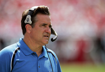 TAMPA, FL - OCTOBER 02:  Head coach Steve Mariucci of the Detroit Lions watches from the sidelines as his team takes on the Tampa Bay Buccaneers on October 2, 2005 at Raymond James Stadium in Tampa, Florida. The Buccaneers defeated the Lions 17-13.  (Phot