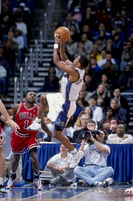 19 Feb 1999:  Rod Strickland #1 of the Washington Wizards in action during the game against the Chicago Bulls at the MCI Center in Washington, D.C. The Wizards defeated the Bull 93-91.  Mandatory Credit: Doug Pensinger  /Allsport