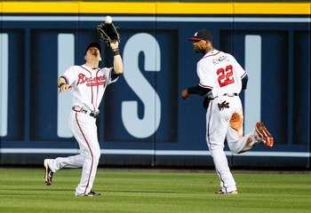 Nate McClouth (left) and Jason Heyward