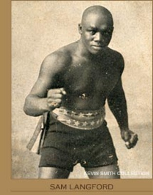 Sam Langford.  Photo: Kevin Smith Collection
