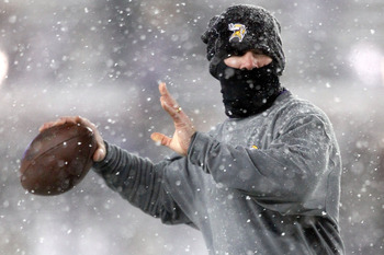 Ninja Brett Favre tests his throwing arm.  I hope he can rest and heal up from his incredibly rough 2010
