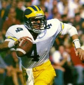 Jim Harbaugh in his playing days under Bo