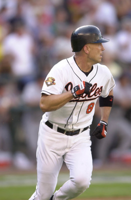 10 Jul 2001:  Cal Ripken Jr. of the Baltimore Orioles circles the bases after hitting a home run in his first at bat during the 2001 Major League Baseball All-Star game at Safeco Field in Seattle, Washington, won by the American League 4-1. DIGITAL IMAGE