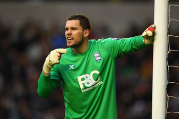 WOLVERHAMPTON, ENGLAND - DECEMBER 12:  Birmingham goalkeeper Ben Foster in action during the Barclays Premier League match between Wolverhampton Wanderers and Birmingham City at Molineux on December 12, 2010 in Wolverhampton, England.  (Photo by Richard H