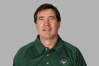 EAST RUTHERFORD, NJ - 2009:  Bill Callahan of the New York Jets poses for his 2009 NFL headshot at photo day in East Rutherford, New Jersey.  (Photo by NFL Photos)