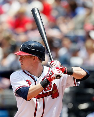 ATLANTA - MAY 31:  Nate McLouth #24 of the Atlanta Braves against the Philadelphia Phillies at Turner Field on May 31, 2010 in Atlanta, Georgia.  (Photo by Kevin C. Cox/Getty Images)