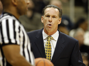PITTSBURGH, PA - DECEMBER 11:  Pittsburgh Panthers head coach Jamie Dixon argues with a referee against the Tennessee Volunteers during the SEC/BIG EAST Invitational at Consol Energy Center on December 11, 2010 in Pittsburgh, Pennsylvania.The Volunteers d