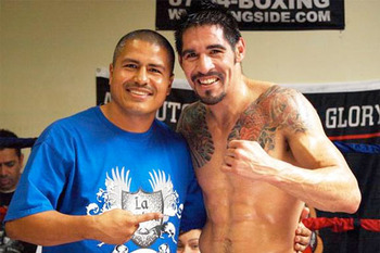 Robert Garcia with Antonio Margarito