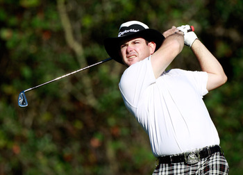 LAKE BUENA VISTA, FL - NOVEMBER 11:  Rory Sabbatini of South Africa plays a shot on the 13th hole during the first round of the Children's Miracle Network Classic at the Disney Palm and Magnolia courses on November 11, 2010 in Lake Buena Vista, Florida.
