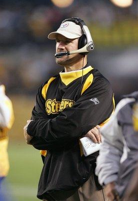 PITTSBURGH - NOVEMBER 5: Head coach Bill Cowher of the Pittsburgh Steelers looks on during the game against the Denver Broncos on November 5, 2006 at Heinz Field in Pittsburgh, Pennsylvania. (Photo by Jim McIsaac/Getty Images)