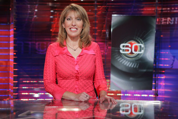 Linda Cohn Swimsuit Sports Center http://bleacherreport.com/articles/553649-satire-espn-to-not-air-atlanta-vs-new-orleans-game-their-alternative-lineup