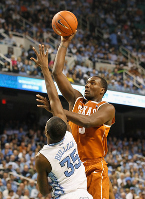 GREENSBORO, NC - DECEMBER 18:  Jordan Hamilton #3 of the Texas Longhorns shoots over Reggie Bullock #35 of the North Carolina Tar Heels at Greensboro Coliseum on December 18, 2010 in Greensboro, North Carolina.  (Photo by Kevin C. Cox/Getty Images)