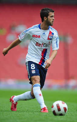LONDON, ENGLAND - AUGUST 01:  Miralem Pjanic of Lyon in action during the Emirates Cup match between AC Milan and Lyon at Emirates Stadium on August 1, 2010 in London, England.  (Photo by Mike Hewitt/Getty Images)
