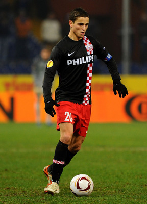 GENOA, ITALY - DECEMBER 01: Ibrahim Afellay of PSV Eindhoven in action during the UEFA Europa League Group I match between Sampdoria and PSV Eindhoven at Stadio Luigi Ferraris on December 1, 2010 in Genoa, Italy. (Photo by Massimo Cebrelli/Getty Images)
