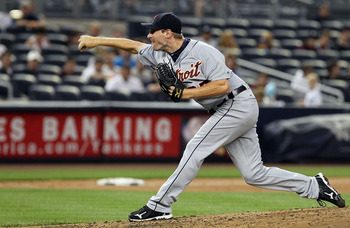 NEW YORK - AUGUST 16:  Max Scherzer #37 of the Detroit Tigers delivers a pitch against the New York Yankees on August 16, 2010 at Yankee Stadium in the Bronx borough of New York City.  (Photo by Jim McIsaac/Getty Images)