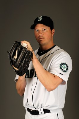 PEORIA, AZ - FEBRUARY 25:  Erik Bedard of the Seattle Mariners poses during photo media day at the Mariners spring training complex on February 25, 2010 in Peoria, Arizona.  (Photo by Ezra Shaw/Getty Images)