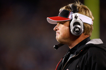 CHARLOTTE, NC - DECEMBER 08:  Head coach Jon Gruden of the Tampa Bay Buccaneers watches during a game against the Carolina Panthers at Bank of America Stadium on December 8, 2008 in Charlotte, North Carolina  (Photo by Streeter Lecka/Getty Images)