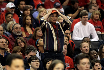 LOS ANGELES, CA - MARCH 11:  Actor Bill Murray is seen during the Quarterfinals of the Pac-10 Basketball Tournament between the Arizona Wildcats and the UCLA Bruins at Staples Center on March 11, 2010 in Los Angeles, California. UCLA defeated Arizona 75-6