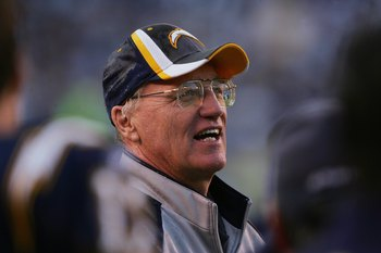 SAN DIEGO - DECEMBER 31:  Head coach Marty Schottenheimer of the San Diego Chargers looks on against the Arizona Cardinals at Qualcomm Stadium on December 31, 2006 in San Diego, California. The Chargers won 27-20. (Photo by Stephen Dunn/Getty Images)