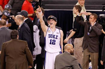 Kyle Singler of Duke after winning the title in 2009