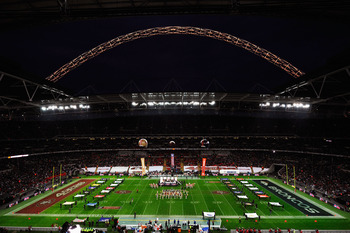 LONDON, ENGLAND - OCTOBER 31:  A general view before the NFL International Series match between Denver Broncos and San Francisco 49ers at Wembley Stadium on October 31, 2010 in London, England. This is the fourth occasion where a regular season NFL match