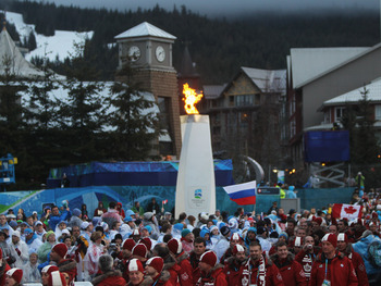 WHISTLER, BC - MARCH 21:  The Paralympic flame  burns during the Closing Ceremony on Day 10 of the 2010 Vancouver Winter Paralympics at Whistler Medals Plaza on March 21, 2010 in Whistler, Canada.  (Photo by Ezra Shaw/Getty Images)