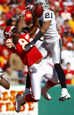 Dwayne Bowe is emerging as a great wide receiver. Nnamdi Asomugha will have his work cut out for him.