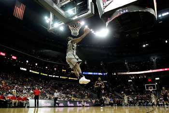 KANSAS CITY, MO - MARCH 10:  Alec Burks #10 of the Colorado Buffaloes dunks the ball in the first half against the Texas Tech Red Raiders during the first round game of the 2010 Phillips 66 Big 12 Men's Basketball Tournament at the Sprint Center on March