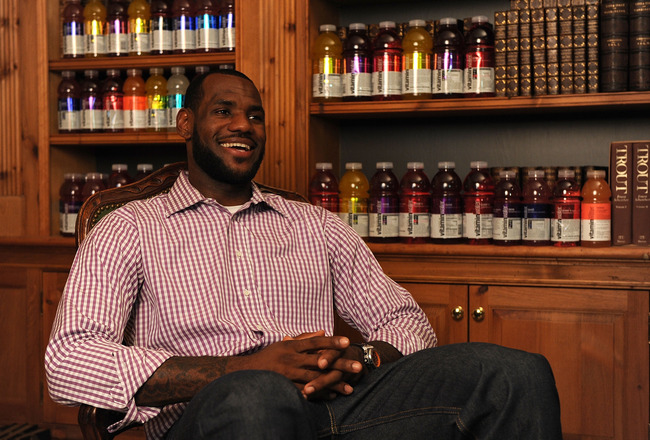 GREENWICH, CT - JULY 08:  (EXCLUSIVE COVERAGE) LeBron James attends the LeBron James Pre Decision Meet and Greet on July 8, 2010 in Greenwich, Connecticut. Proceeds from tonight's 2.5 million dollar event will be donated to the Boys &amp; Girls Clubs of Ameri