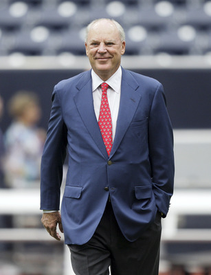 HOUSTON - SEPTEMBER 26:  Houston Texans owner Bob McNair walks on the field before a football game against the Dallas Cowboys at Reliant Stadium on September 26, 2010 in Houston, Texas.  (Photo by Bob Levey/Getty Images)