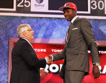 This year Ed Davis was selected 13th overall by the Raptors.