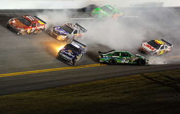 Carl Edwards finished the season strong but he began the season wadded up at Daytona.