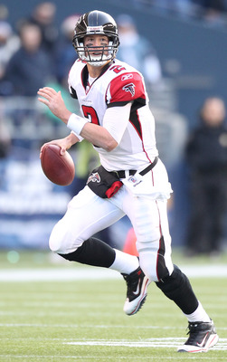 SEATTLE, WA - DECEMBER 19:  Quarterback Matt Ryan #2 of the Atlanta Falcons rushes against the Seattle Seahawks at Qwest Field on December 19, 2010 in Seattle, Washington. (Photo by Otto Greule Jr/Getty Images)