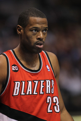 DALLAS, TX - DECEMBER 15:  Center Marcus Camby #23 of the Portland Trail Blazers at American Airlines Center on December 15, 2010 in Dallas, Texas.  NOTE TO USER: User expressly acknowledges and agrees that, by downloading and or using this photograph, Us