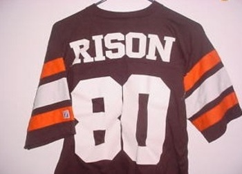 Andre Rison? Was this manufactured by a company or 5th grade art student?
