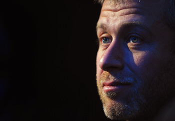ZURICH, SWITZERLAND - DECEMBER 02:  Roman Abramovich sits amongst the Russian Bid Team after winning the bid to host the 2018  Tournament duirng the FIFA World Cup 2018 &amp; 2022 Host Countries Announcement at the Messe Conference Centre on December 2, 2010