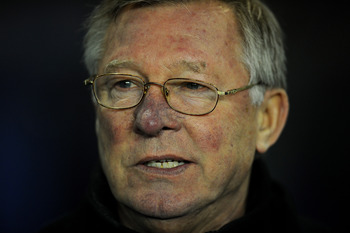BIRMINGHAM, ENGLAND - DECEMBER 28:  Manchester United Manager Sir Alex Ferguson looks on prior to the Barclays Premier League match between Birmingham City and Manchester United at St Andrew's Stadium on December 28, 2010 in Birmingham, England.  (Photo b