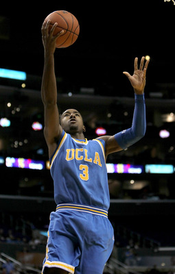 LOS ANGELES, CA - MARCH 12:  Malcolm Lee #3 of the UCLA Bruins shoots against  the California Golden Bears during the semifinals of the Pac-10 Basketball Tournament at Staples Center on March 12, 2010 in Los Angeles, California.  (Photo by Stephen Dunn/Ge