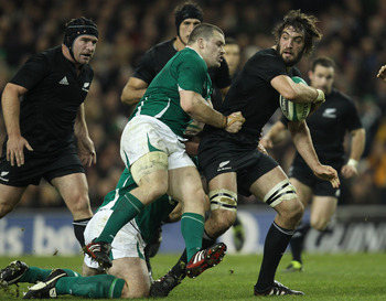 Sam Whitelock in action against Ireland