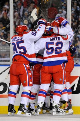 The Capitals Celebrate Knuble's Goal