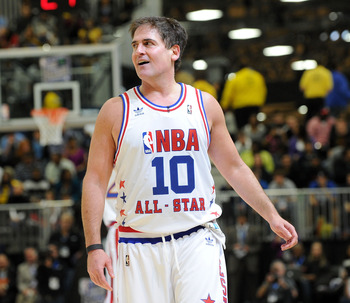 DALLAS - FEBRUARY 12:  Dallas Mavericks owner Mark Cuban during the NBA All-Star celebrity game presented by Final Fantasy XIII held at the Dallas Convention Center on February 12, 2010 in Dallas, Texas.  (Photo by Jason Merritt/Getty Images)