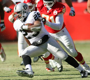 The Chiefs had no answer for the bruising style of Michael Bush.
