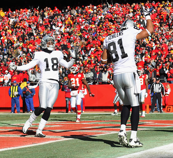 The Raider wide outs showed up more than any other time in two seasons.