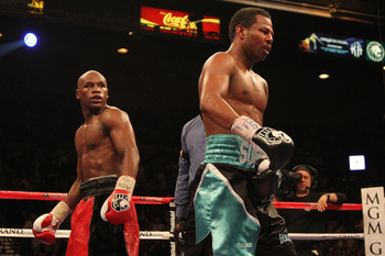 Mayweather (pictured left in the red and black) is a memorable and explosive personality tailor-made for promoting fights.