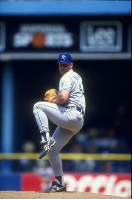 14 Jul 1998:  Pitcher Tim Belcher #41 of the Kansas City Royals in action during a game against the Detroit Tigers at Tiger Stadium in Detroit, Michigan.  The Tigers defeated the Royals 8-3. Mandatory Credit: Rick Stewart  /Allsport