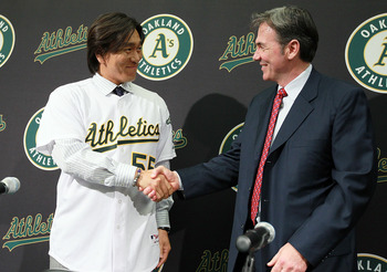 If Beltre joined Matsui in Oakland, they could win the AL West.
