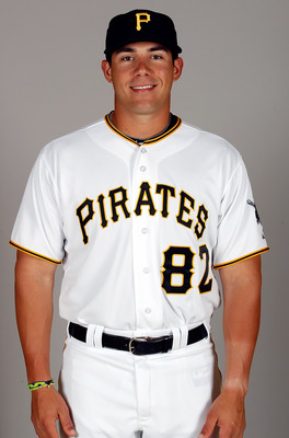 BRADENTON, FL - FEBRUARY 20:  Catcher Tony Sanchez #82 of the Pittsburgh Pirates poses for a photo during photo day at Pirate City on February 20, 2011 in Bradenton, Florida.  (Photo by J. Meric/Getty Images)